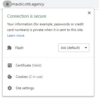 Mautic SSL Confirmation